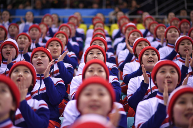 180223 north korea cheerleaders